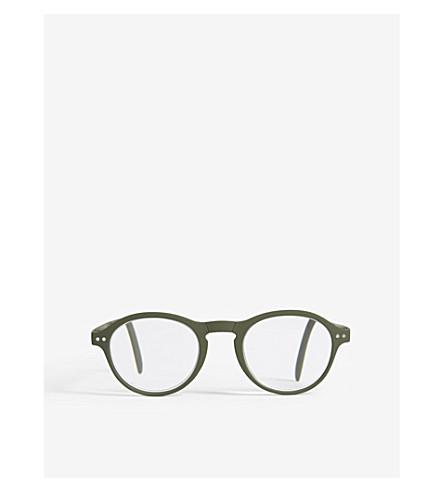 IZIPIZI Letmesee #F round-frame foldable reading glasses +3.5