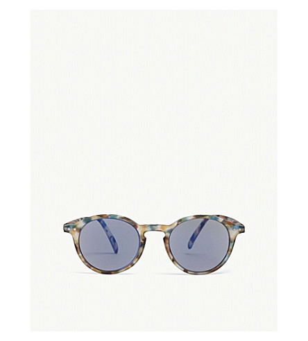 IZIPIZI Sun & Sun Reading #D Tortoiseshell round-frame sunglasses +1.00