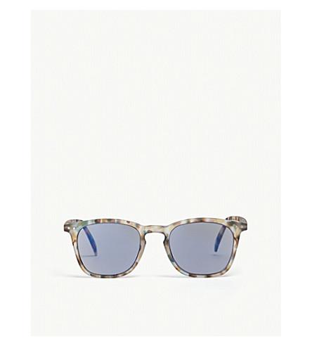 IZIPIZI SUN #E tortoiseshell polarized wayfarer sunglasses +1.00