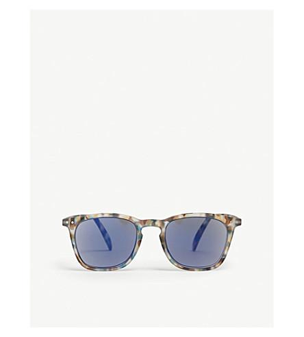 IZIPIZI SUN #E tortoiseshell polarized wayfarer sunglasses +2.0
