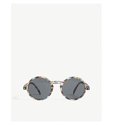 IZIPIZI SUN #G tortoiseshell round-frame tinted sunglasses