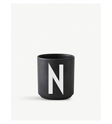 DESIGN LETTERS N Personal porcelain cup 7.5cm