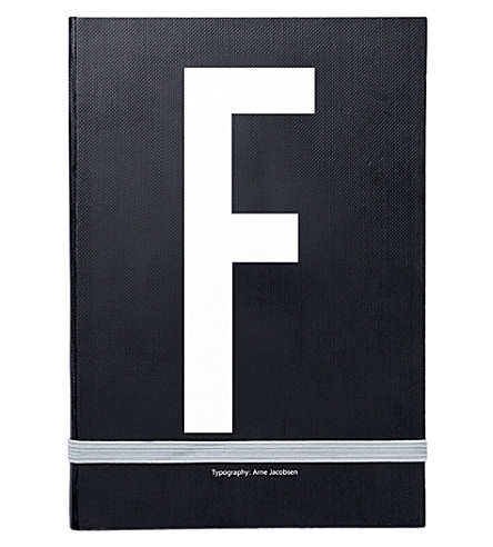 DESIGN LETTERS F personal notebook