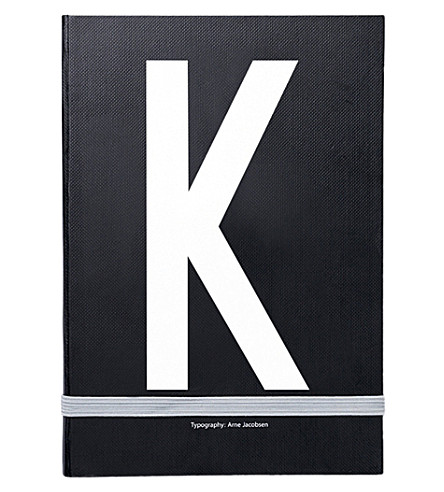 DESIGN LETTERS K personal notebook