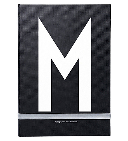 DESIGN LETTERS M personal notebook