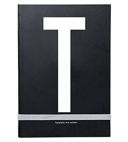 DESIGN LETTERS T personal notebook