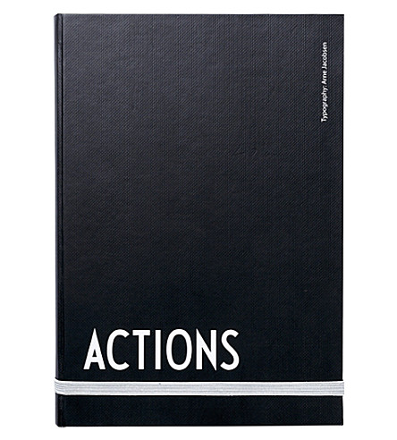 DESIGN LETTERS Hardback actions notebook
