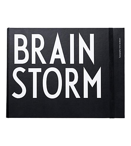 DESIGN LETTERS Hardback brainstorm notebook