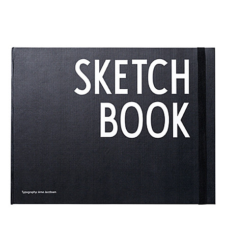 DESIGN LETTERS Hardback sketchbook