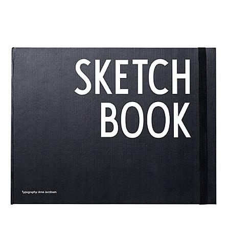 DESIGN LETTERS Hardback sketchbook