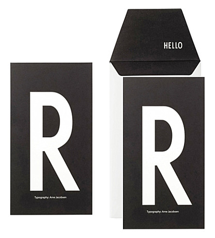 DESIGN LETTERS R typography greeting card