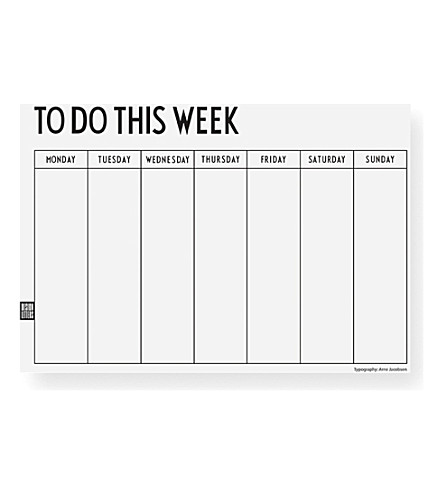 DESIGN LETTERS Weekly planner notebook