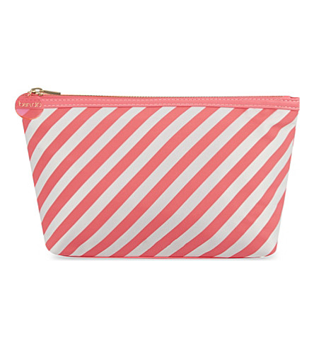 BANDO Looking Good striped makeup bag