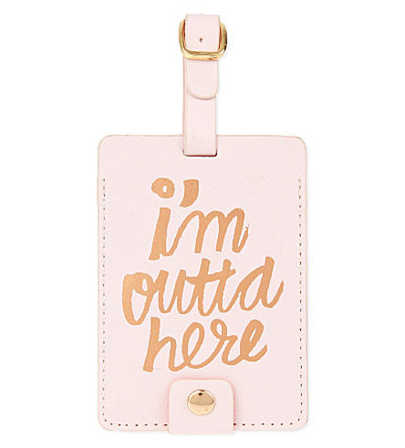 BANDO The Getaway I'm Outta Here! luggage tag