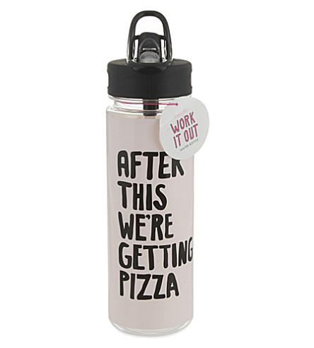 BANDO We're Getting Pizza water bottle