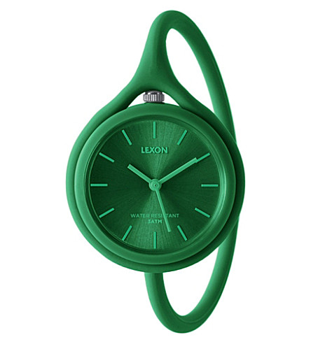 LEXON Take Time original quartz watch green