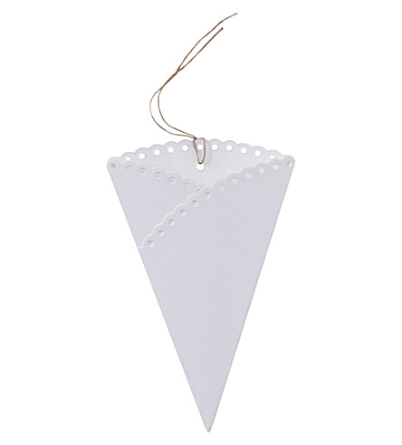 GINGER RAY Scalloped confetti cones (set of 10)