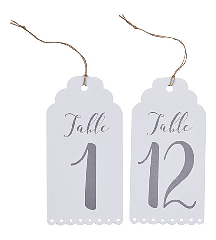 GINGER RAY Luggage tag table numbers 1-12