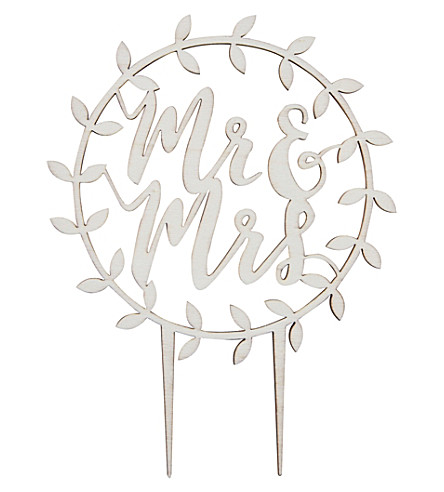 GINGER RAY Wooden cake topper