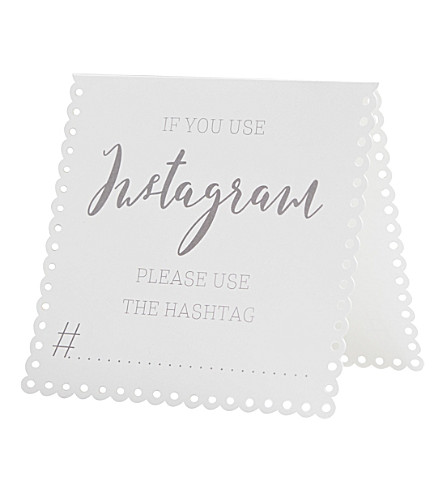 GINGER RAY Instagram tent card set