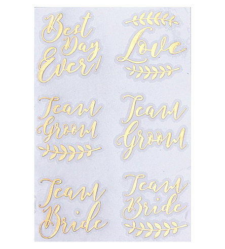 GINGER RAY Tattoos gold mixed pack