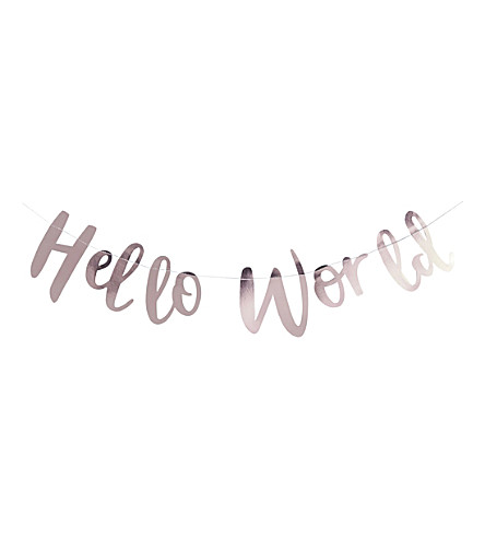 GINGER RAY Hello World metallic bunting