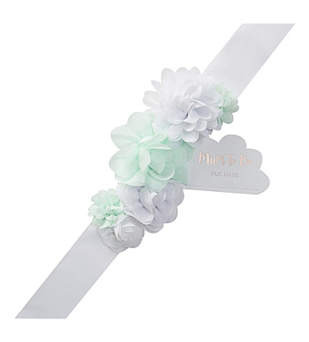 GINGER RAY Mum-to-be embellished sash
