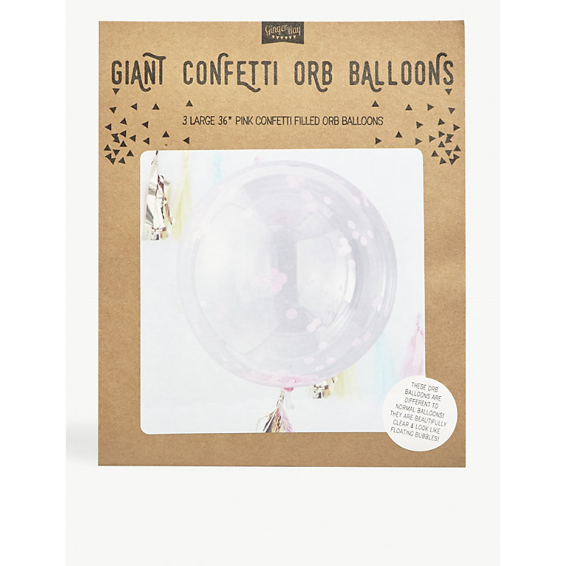 GINGER RAY | Giant Confetti Orb Balloons Pack Of Three | Goxip