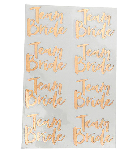 GINGER RAY Team Bride metallic temporary tattoos
