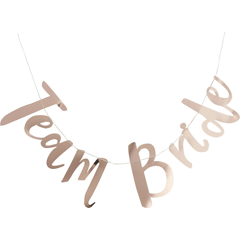 GINGER RAY | Ginger Ray Team Bride Foiled Bunting | Goxip