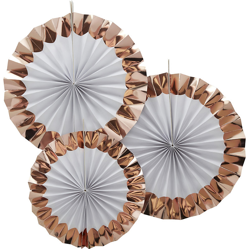 GINGER RAY | Ginger Ray Hanging Foiled Fan Decorations | Goxip