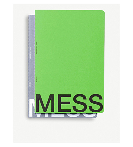 NOMESS MESS study A4 notebooks set of 2