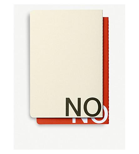 NOMESS乱七八糟的研究笔记本红和米色中等集 2