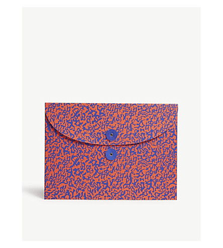THE WRAP PAPER Ripple Blue/Red organiser envelope