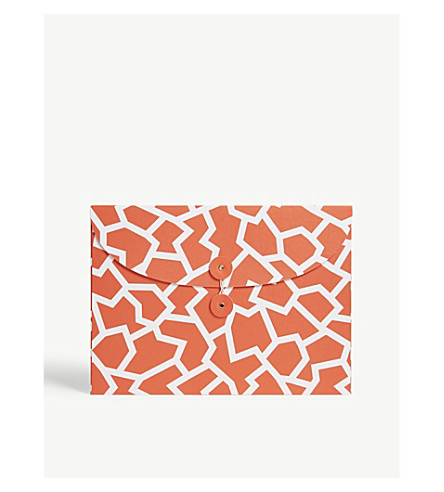 THE WRAP PAPER Fracture Red organiser envelope