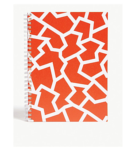 THE WRAP PAPER Fracture Red large geometric notebook 22x16cm
