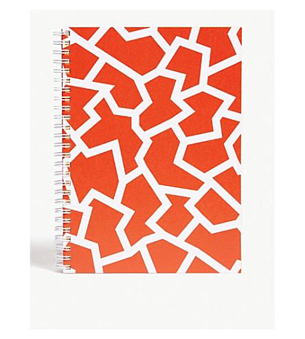 THE WRAP PAPERFRACTURE红色大几何笔记本22x16厘米