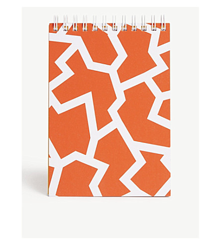 THE WRAP PAPER Fracture Red geometric notebook 16x10cm