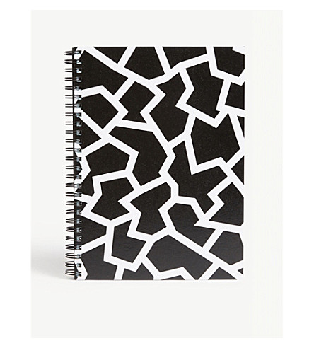 THE WRAP PAPER Geometric notebook 22x16cm