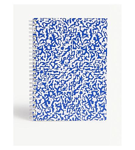 THE WRAP PAPER Ripple White large geometric notebook 22x16cm