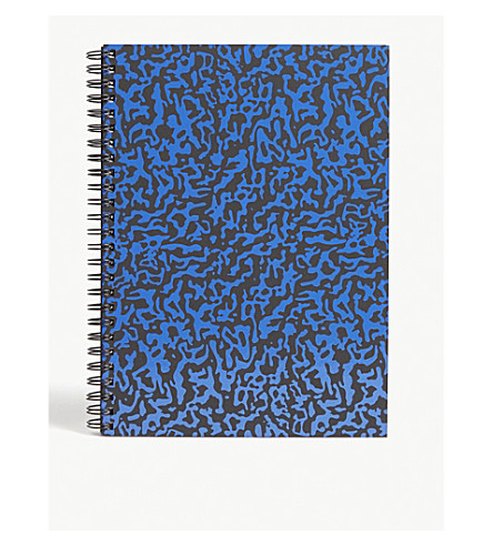 THE WRAP PAPER Ripple Black large geometric notebook 22x16cm