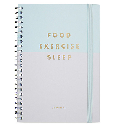 kikki k food exercise sleep journal selfridges com