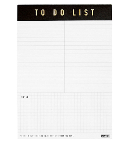 KIKKI.K A5 Life Essentials To Do List pad