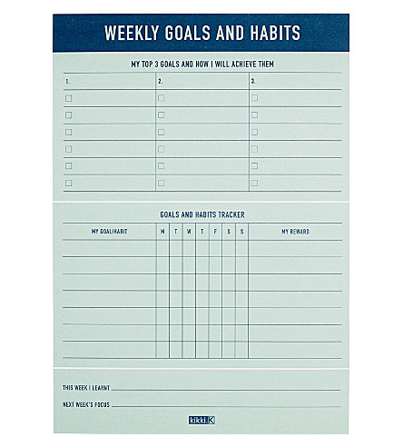 KIKKI.K Weekly Goals and Habits pad