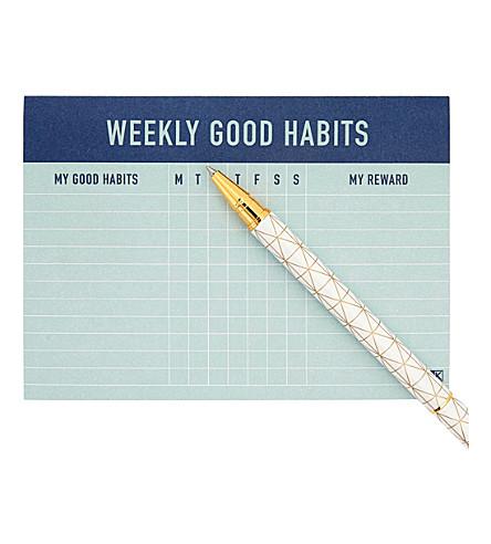 KIKKI.K Weekly habits pad