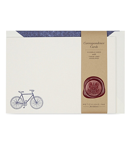 METICULOUS INK Bicycle correspondence card set of 10