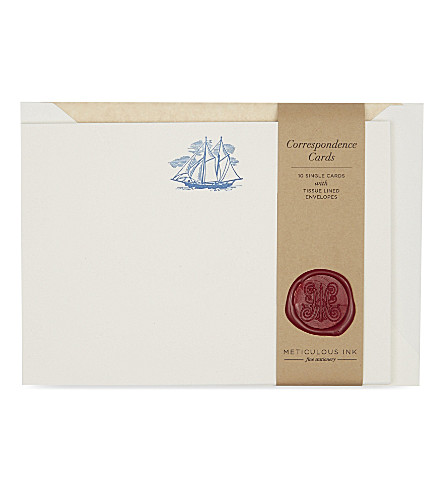 METICULOUS INK Honey bee correspondence card set of 10