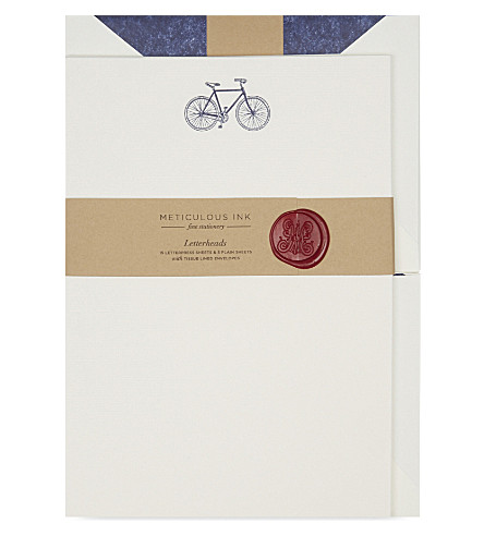 METICULOUS INK Bicycle letterheads set of 20