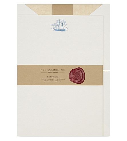 METICULOUS INK Ship letterheads set of 20