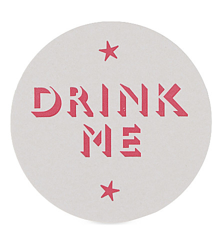 MARBY & ELM Drink me paper coaster set of 6